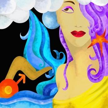 The zodiac and interior decoration for Aquarius, Aquarius rising, Uranus dominant, or strong 11th House