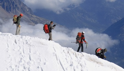 Alpinism, one of the sports Capricorn enjoys