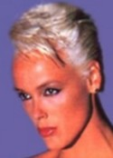 A living phantasm for all men, tall Danish Brigitte Nielsen, 1m85 (6'1) barefoot, is the former wife of Sly Stallone.