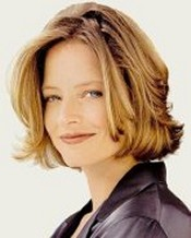 Jody Foster, starring in many films, including The Silence of the Lambs and... speaking a perfect French style=