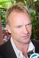 Sting, a singer who is quite special and whose interviews are sometimes quite strange.