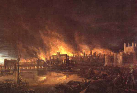 The 1666 Great Fire of London was predicted by William Lilly several years earlier.