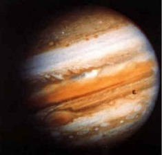 Jupiter, twelve times bigger than the Earth, is known as The Greater Fortune in astrology.