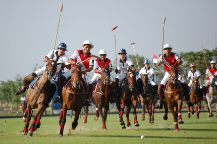 Polo, one of the sports Sagittarius enjoys